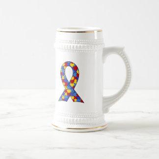 Ruban de sensibilisation sur l'autisme mugs à café