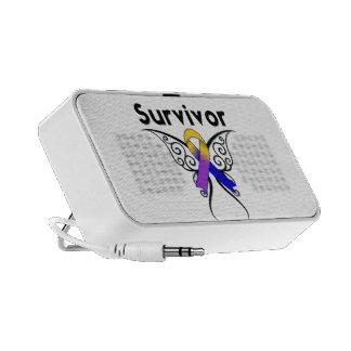 Ruban de tatouage de papillon de cancer de la vess haut-parleur iPod