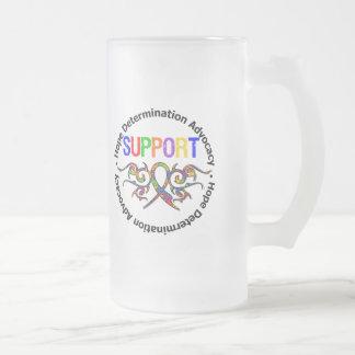 Ruban de tribal de soutien d'autisme tasse à café