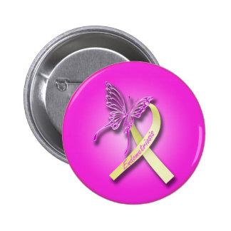 Ruban d'endométriose avec le papillon badges