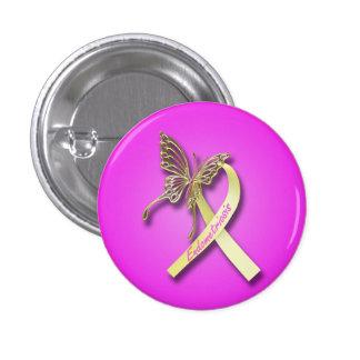 Ruban d'endométriose avec le papillon d'or badges