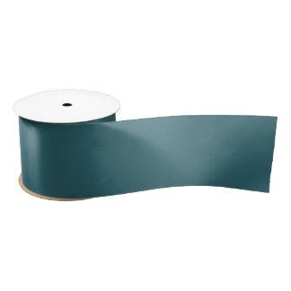 Ruban En Satin Couleur solide de bleu de paon (Teal foncé ou Aqua