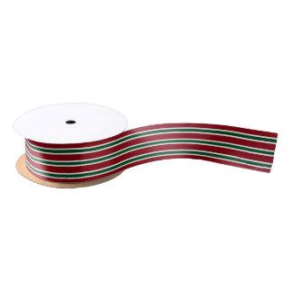 Ruban En Satin Dans le sens de la longueur rouge de couleur faite