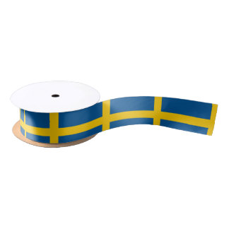 Ruban En Satin Drapeau de la Suède