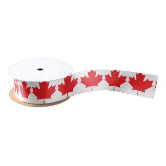 Ruban En Satin Feuille d'érable canadienne