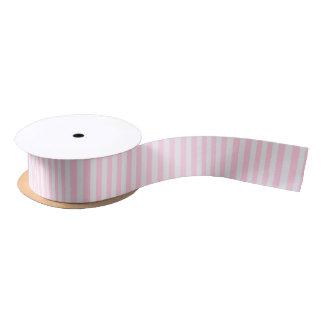 Ruban En Satin L'amour rose et le blanc barre le ruban de partie