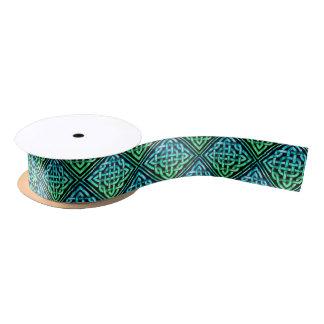 Ruban En Satin Noeud celtique - vert bleu de diamant