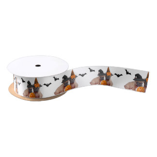 Ruban En Satin Ruban de satin de chien de bouledogues français de