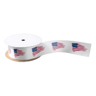 Ruban En Satin Ruban de satin de drapeau américain