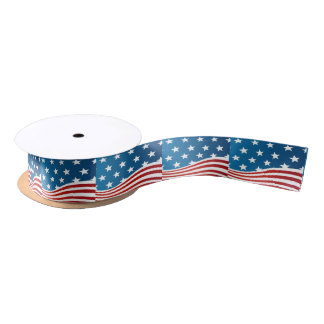 Ruban En Satin Ruban de satin de style de drapeau américain