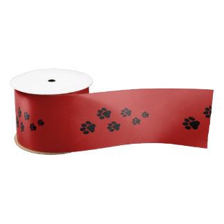 Ruban En Satin Ruban d'enveloppe de cadeau d'impression de chien