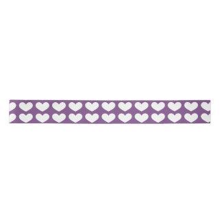 Ruban En Satin Ruban lumineux de Saint-Valentin de Purple Heart