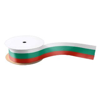 Ruban En Satin Ruban patriotique avec le drapeau de la Bulgarie