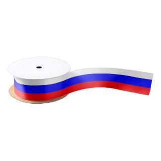 Ruban En Satin Ruban patriotique avec le drapeau de la Russie