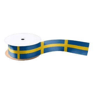 Ruban En Satin Ruban patriotique avec le drapeau de la Suède