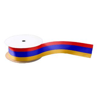 Ruban En Satin Ruban patriotique avec le drapeau de l'Arménie