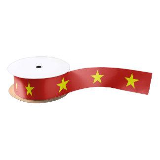 Ruban En Satin Ruban patriotique avec le drapeau du Vietnam