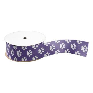 Ruban Gros-grain Blanc sur empreinte de patte ultra-violet de