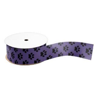 Ruban Gros-grain Noircissez sur empreinte de patte ultra-violet de