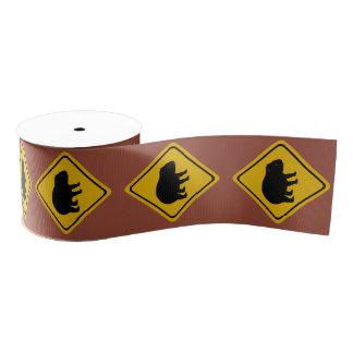 Ruban Gros-grain panneau routier de wombat - ruban