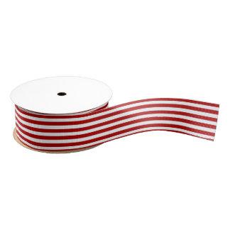 Ruban Gros-grain Ruban blanc et par rouge dépouillé de Noël de