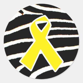 Ruban jaune adhésifs ronds