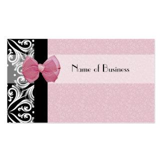 Ruban parisien élégant de rose de damassé carte de visite standard