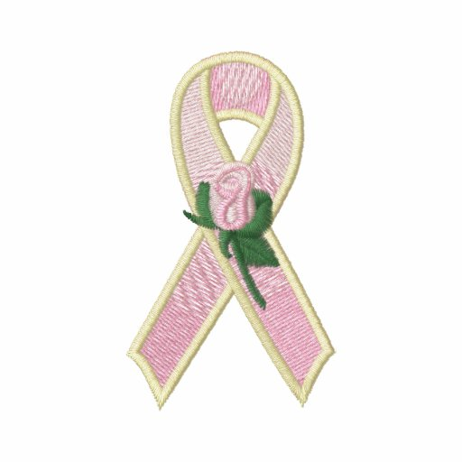 Ruban rose avec la conscience rose de cancer du se polo avec broderie