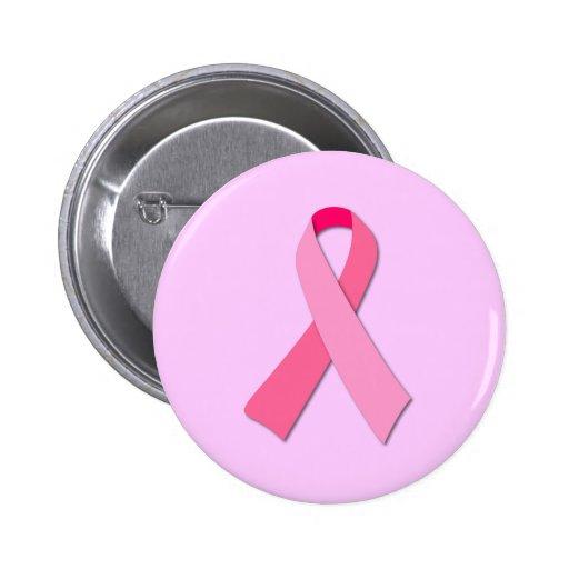 Ruban rose badge avec épingle