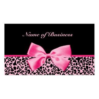 Ruban rose et noir à la mode de roses indien de carte de visite standard