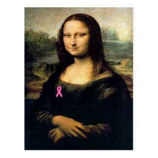 Ruban rose Mona Lisa Carte Postale
