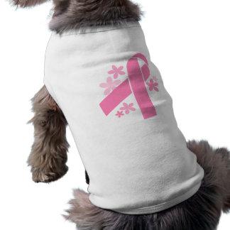 Ruban rose t-shirt pour chien