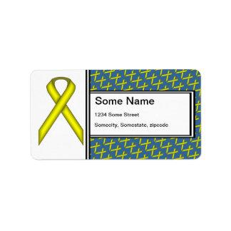 Ruban standard jaune par Kenneth Yoncich Étiquettes D'adresse