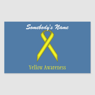 Ruban standard jaune sticker rectangulaire