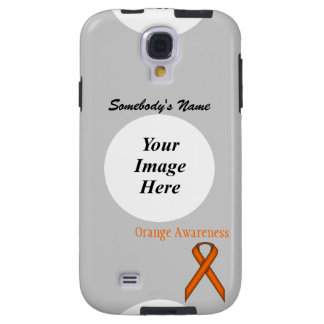Ruban standard orange par Kenneth Yoncich Coque Galaxy S4