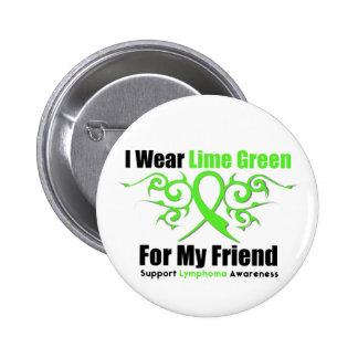 Ruban tribal de lymphome pour mon ami badge