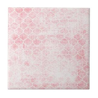 Rubans et dentelle de roses petit carreau carré