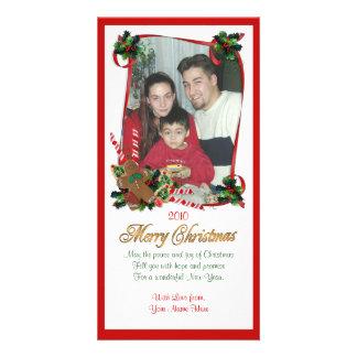 Rubans et sucrerie de carte photo de Noël Cartes Avec Photo