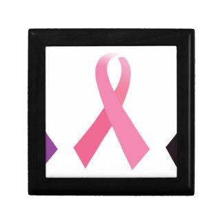 Rubans peints à la main de cancer boîte à souvenirs