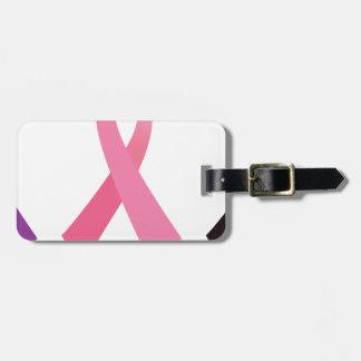 Rubans peints à la main de cancer étiquette à bagage