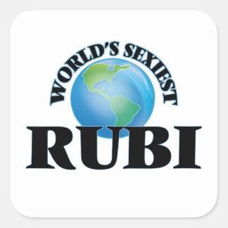 Rubi le plus sexy du monde stickers carrés