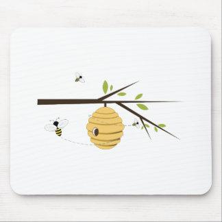 Ruche d'abeille tapis de souris