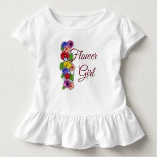 Ruche d'enfant en bas âge de demoiselle de honneur t-shirt pour les tous petits
