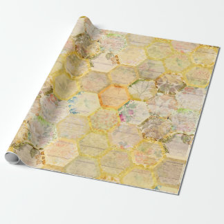 Ruche florale de nid d'abeilles d'abeille de miel papiers cadeaux noël