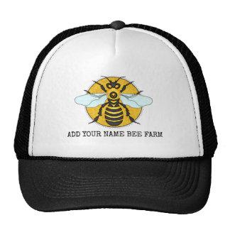 Rucher de ferme d'abeille de nid d'abeilles casquette de camionneur