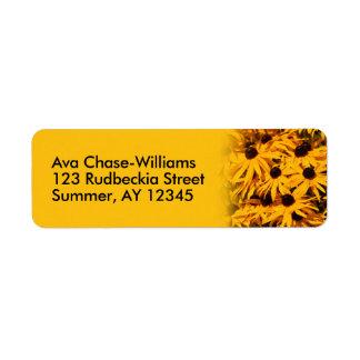 Rudbeckia Fulgida/Coneflower orange Étiquettes D'adresse Retour