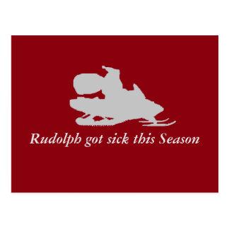 Rudolph est tombé malade cette saison carte