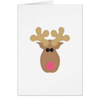 Rudolph font face carte de vœux