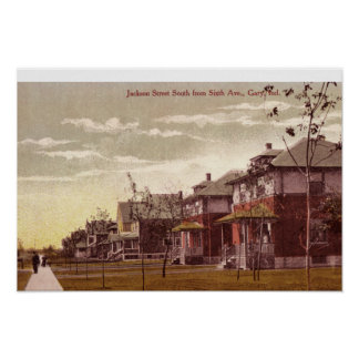 Rue 1915 de Gary, Indiana Jackson Posters