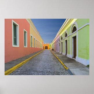 Rue à San Juan, Porto Rico Posters